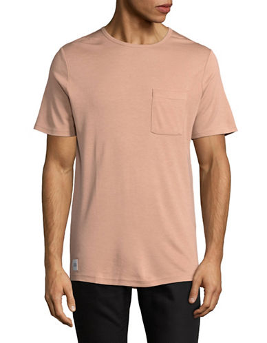 Native Youth Vented Pocket Tee-PINK-Small