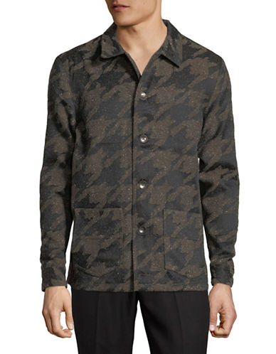 Native Youth Houndstooth Jacket-CHARCOAL-Medium