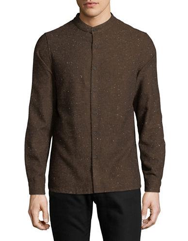 Native Youth Alford Sport Shirt-BROWN-Medium