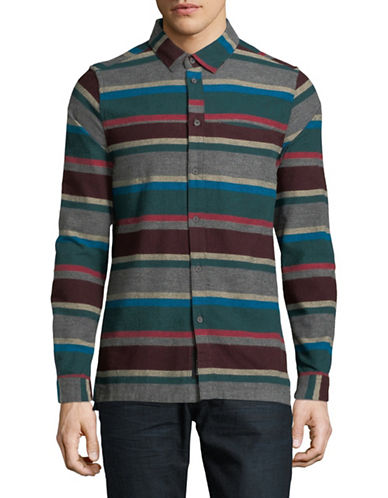 Native Youth Arcot Cotton Sport Shirt-GREY-Small