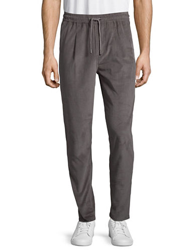 Native Youth Drawstring Pants-GREY-36