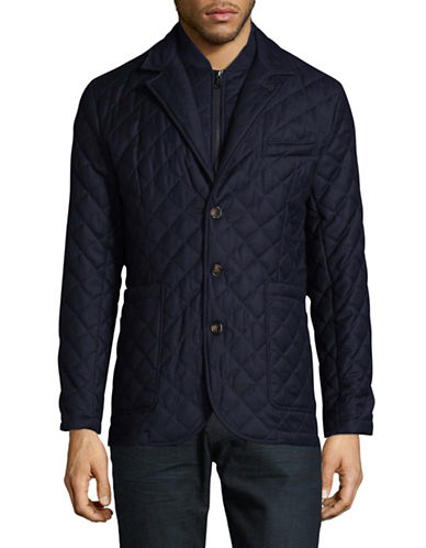 Aquascutum Forest Quilted Blazer-BLUE-X-Large