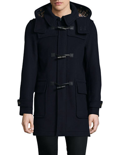 Aquascutum Henward Duffel Coat-BLUE-Large