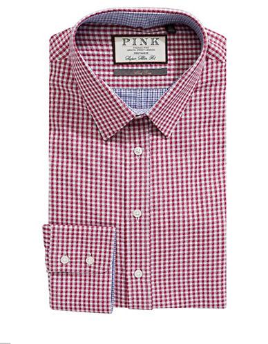 Thomas Pink Pauling Check Dress Shirt-RED/BLUE-18-37