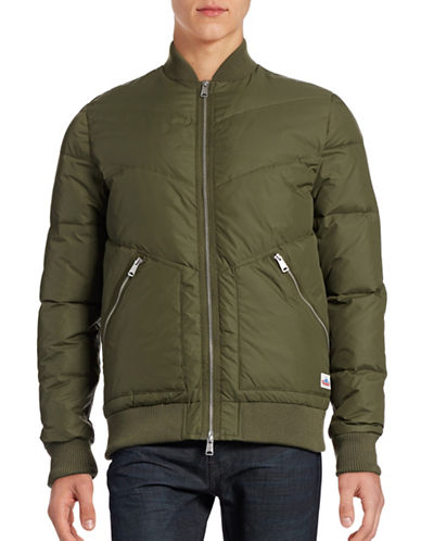 Penfield Quilted Fill Bomber Jacket-OLIVE-Medium