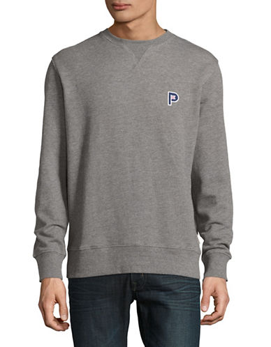Penfield Redlands Embroidered Crew Neck Sweater-GREY-X-Large