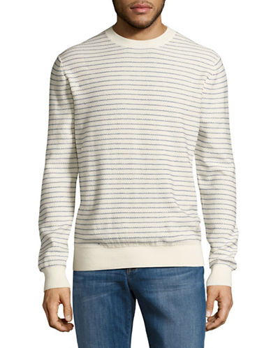 Penfield Dimas Dot Stripe Sweater-WHITE-Small