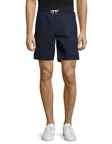 Penfield Arvin Logo Print Shorts-NAVY-Large