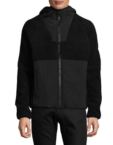 Penfield Vaughn Fleece Jacket-BLACK-Large