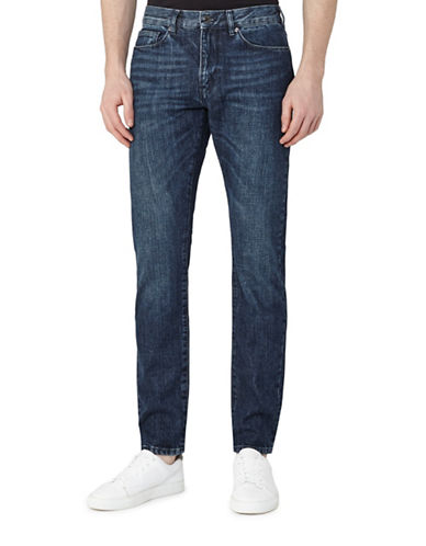 Reiss Tenda Washed Slim-Fit Jeans-INDIGO-34