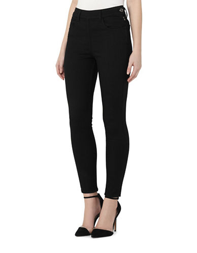 Reiss Hedy High Waist Skinny Jeans-BLACK-27