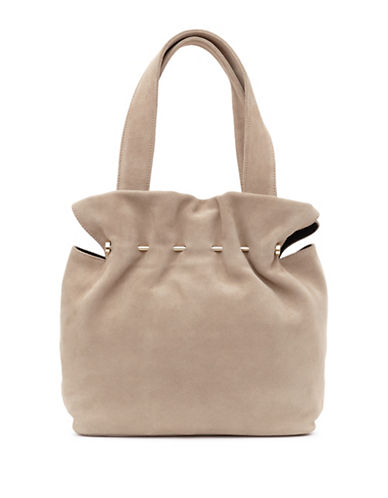 Reiss Cassius Suede Tote Bag-NATURAL-One Size