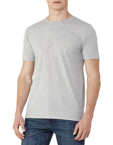 Reiss Bless Marl Crew Neck T-Shirt-MELANGE-Small