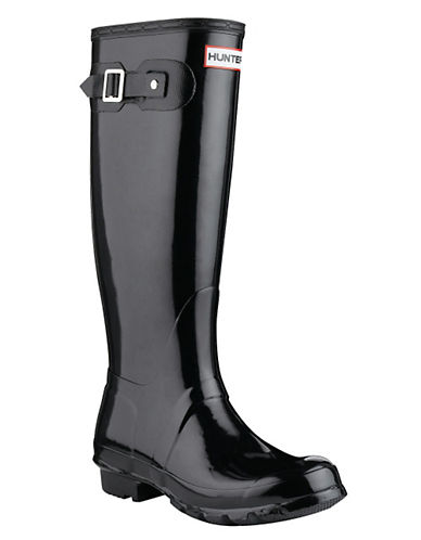 Hunter Original Tall Gloss Rain Boot-BLACK-7