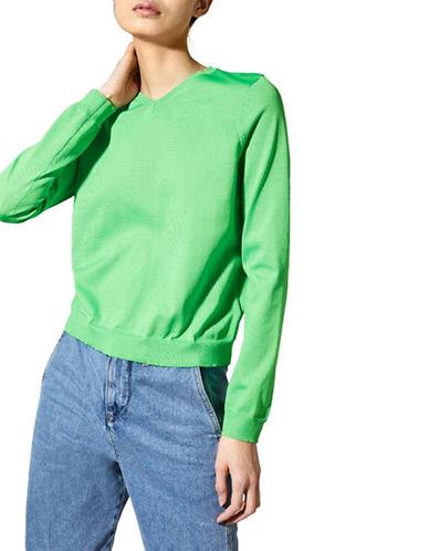 Topshop Ribbed V-Neck Sweater 90043849