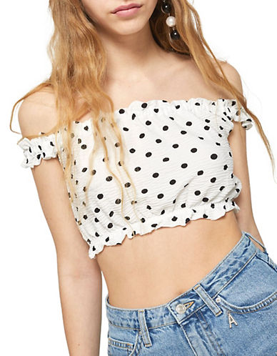 Topshop Strappy Crop Top-WHITE-UK 8/US 4 90081748_WHITE_UK 8/US 4