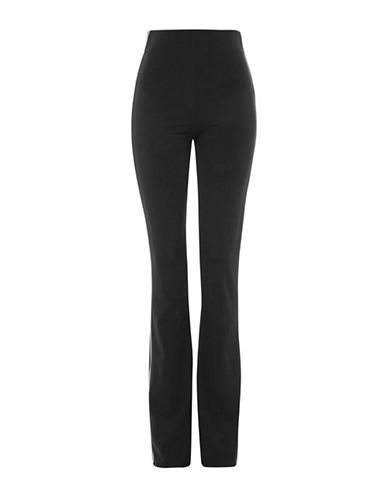Topshop Side Stripe Flared Leggings-BLACK-UK 8/US 4 90024460_BLACK_UK 8/US 4