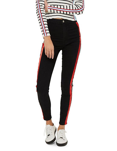 Moto Piping Striped Joni Jeans 30 Inch Leg by Topshop