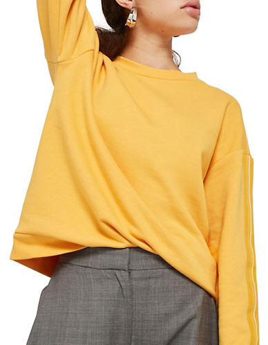 Taped Sleeved Sweater by Topshop