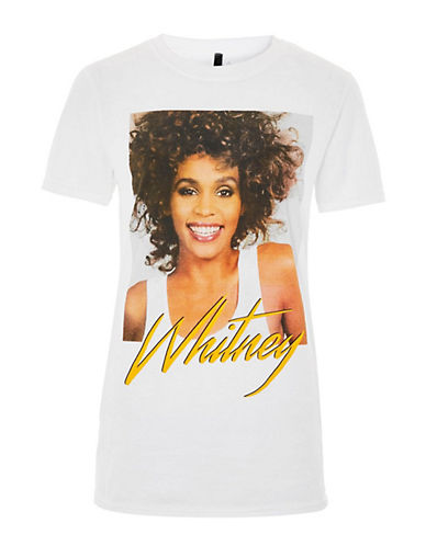 Topshop Whitney T-shirt-WHITE-Medium 90081799_WHITE_Medium
