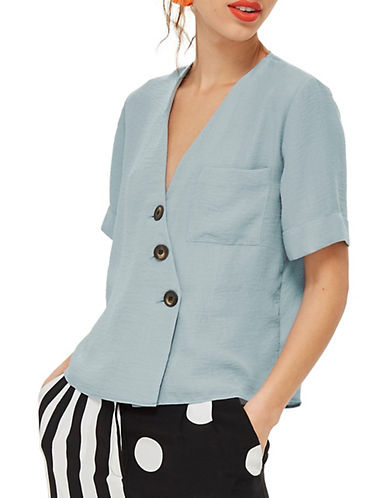 Ashley Buttoned Blouse by Topshop