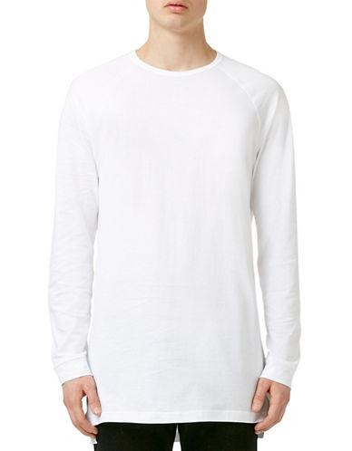 Topman Longline T-Shirt-WHITE-X-Large 88310826_WHITE_X-Large