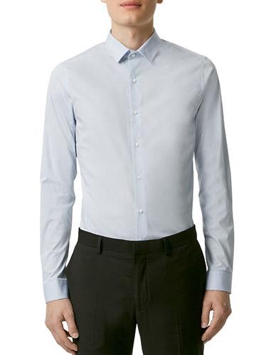 Topman Stretch Sport Shirt-LIGHT BLUE-Medium