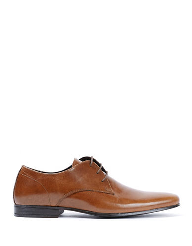 Topman Breeze Derby Leather Shoes-TAN-EU 42/US 9