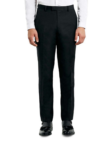 Topman Twill Skinny Fit Dress Pants-BLACK-30 Long
