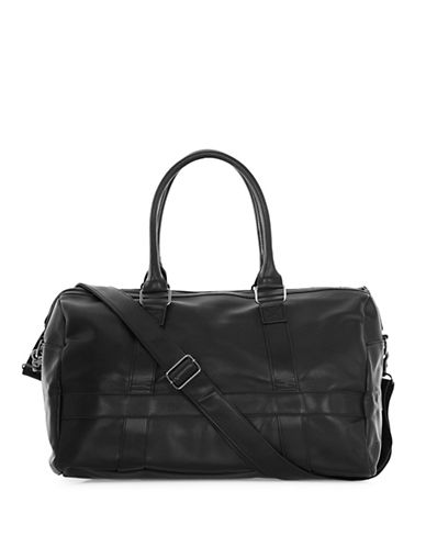 Topman Textured Holdall Backpack-BLACK-One Size