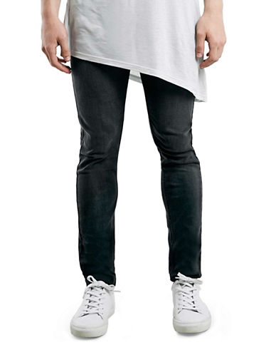 Topman Stretch Skinny Jeans-GREY-32