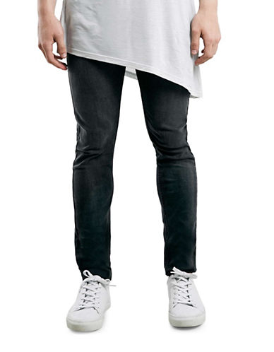 Topman Kobe Super Skinny Jeans-GREY-32 Long