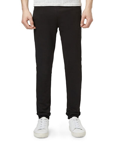 Topman Tucker Zip Skinny Jogger Pants-BLACK-Medium 88429274_BLACK_Medium