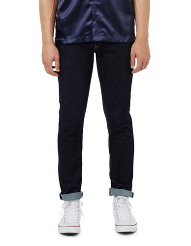 Topman Hendrix Stretch Slim Jeans-BLUE-34 Short