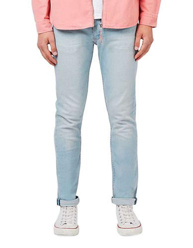 Topman Hendrix Stretch Slim Jeans-LIGHT BLUE-28 Short