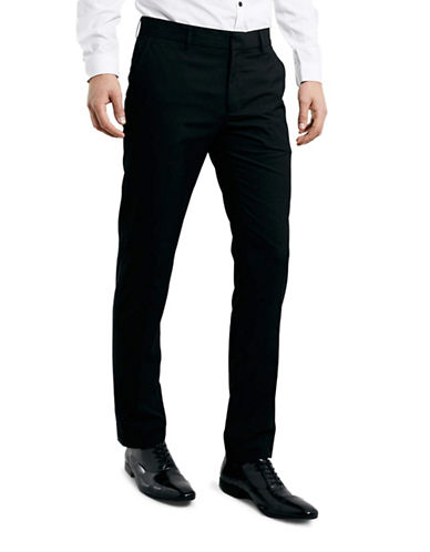 Topman Skinny Dress Pants-BLACK-30 Short