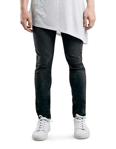 Topman Kobe Super Skinny Jeans-GREY-34