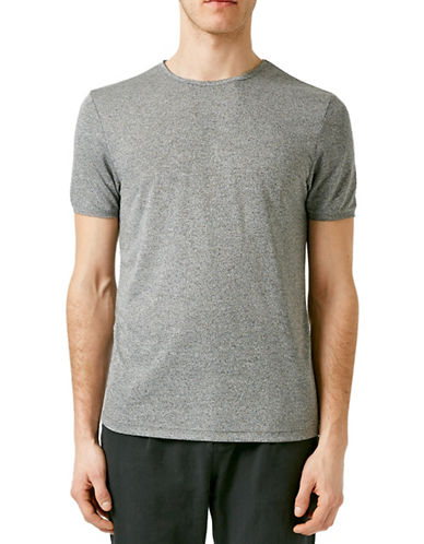 Topman Salt-and-Pepper Slim Fit T-Shirt-GREY-Small 88344894_GREY_Small
