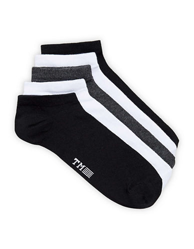 Topman Pack of Five Assorted Sport Socks-MULTI-One Size