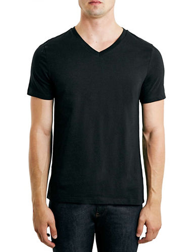 Topman V-Neck T-Shirt-BLACK-Small 88573364_BLACK_Small