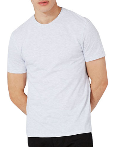 Topman Marl Slim Fit Crew T-Shirt-LIGHT GREY-XX-Large