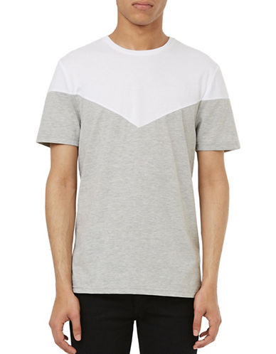 Topman Chevron Print T-Shirt-GREY-Small 88423912_GREY_Small