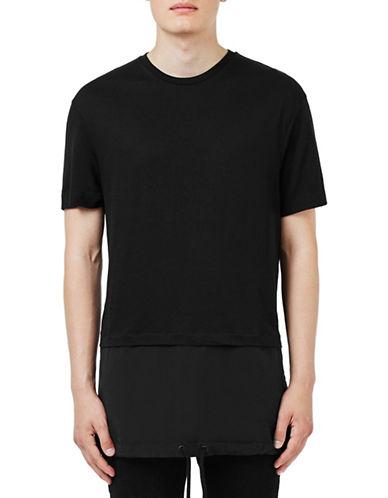 Topman Panel Longline T-Shirt-BLACK-X-Small 88520243_BLACK_X-Small