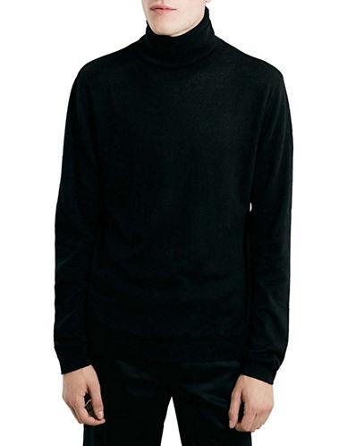 Topman Turtleneck Pullover-BLACK-X-Large 88648556_BLACK_X-Large