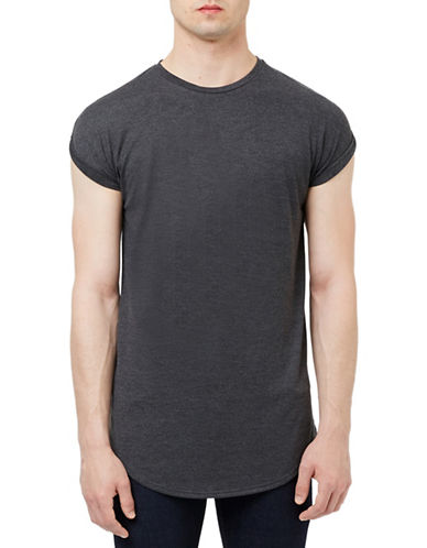 Topman Drop Shoulder Tank Top-BLACK-X-Small 88436711_BLACK_X-Small