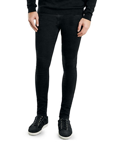 Topman Coated Spray-On Skinny Jeans-BLACK-36 Long
