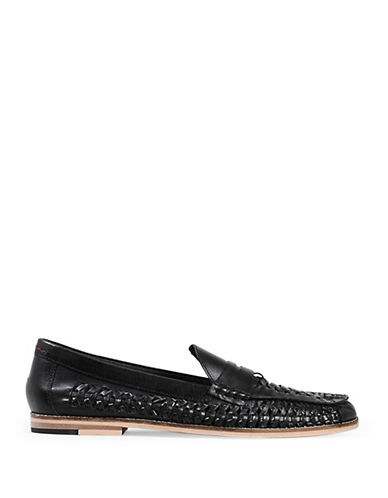 Topman Marne Leather Loafers-BLACK-EU 41/US 8