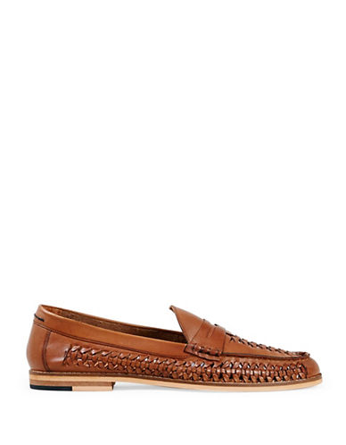 Topman Marne Leather Loafers-BROWN-EU 42/US 9