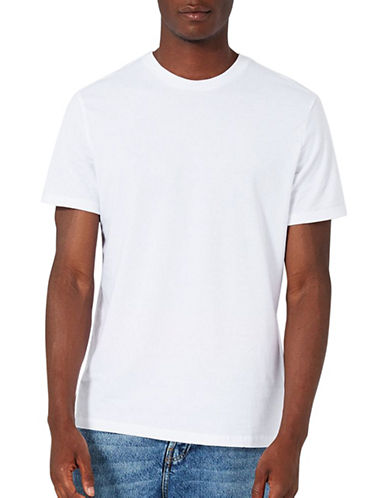 Topman Slim Fit Crew Neck T-Shirt-WHITE-XX-Large