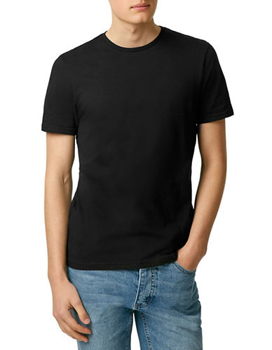 Topman Slim-Fit Crew T-Shirt-BLACK-Large